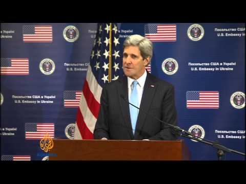 Kerry accuses Russia of aggression in Ukraine