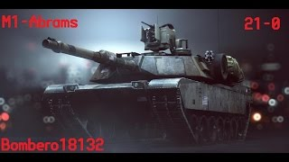 Battlefield 4 - Amazing tank skills with M1 Abrams - [21-0]