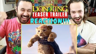 THE LION KING Official Teaser TRAILER REACTION!!!
