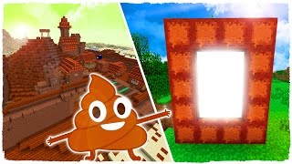 HOW TO MAKE A PORTAL TO THE POOP DIMENSION - MINECRAFT