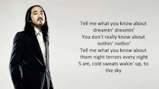 Kid Cudi - Pursuit of Happiness (Steve Aoki Remix) LYRICS