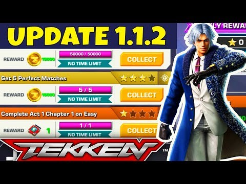 TEKKEN MOBILE IOS/ANDROID. Update 1.1.2 Review. Lee Chaolan, Bounties, Challenges. BEST UPDATE EVER!