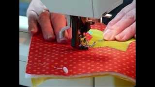 How to make an Applique Quilt as you Go block - Quilting Tips & techniques 072