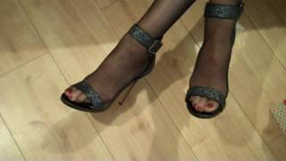 My Tower Brand Barely Black Nylon Tights and My High Heels