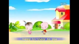 Lagu anak Happy Birthday(english-mandarin)