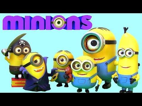 New Minions Toys 2015 Dracula Stuart Build-a-minion Pirate Banana Munching Unboxing By Blutoys video