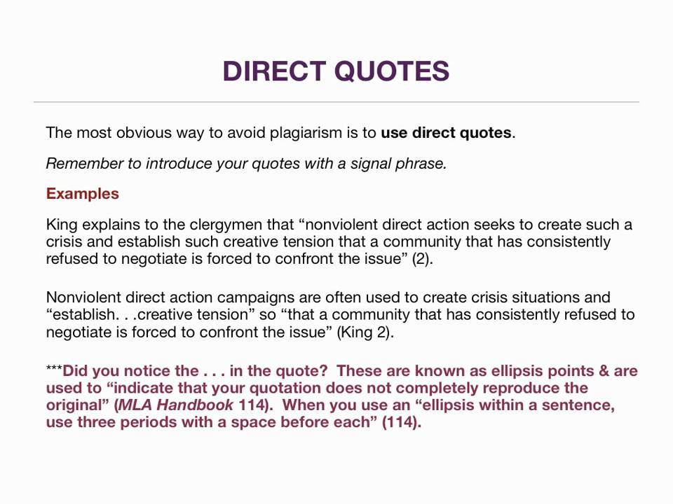 direct quote research paper Definition and examples of direct quotations glossary of grammatical and rhetorical terms.