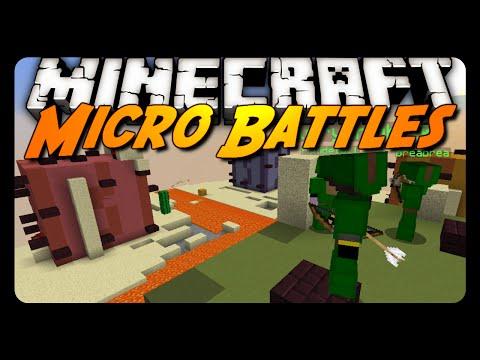 Minecraft: MICRO PVP BATTLES! (Mini-Game)