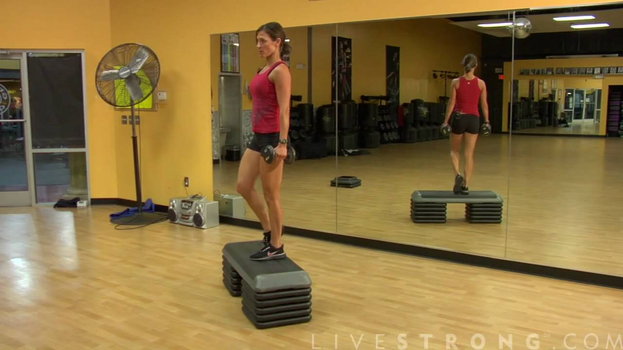 Displaying 17 Images For Step Ups Exercise On Stairs