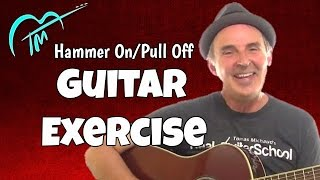 Hammer On Pull Off Acoustic Guitar Exercise: Builds Strength And Dexterity