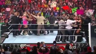 John Cena slaps Brock Lesnar on Monday night RAW 090412