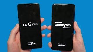 LG G7 vs Samsung Galaxy S9+ Speed Test, Speakers & Cameras!