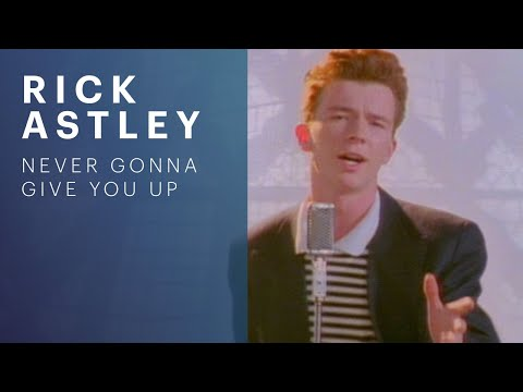 Music video by Rick Astley performing Never Gonna Give You Up. YouTube view counts pre-VEVO: 2573462 (C) 1987 PWL.