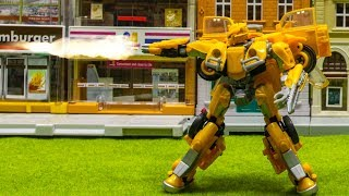 Transformers 2018 Bumblebee StopMotion Studio Series SS-18 VW Betle BUMBLEBEE Vehicle Car Robot Toy