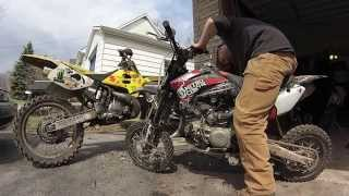 Spring tune-up Nitro Circus Pitster Pro LXR 155r & Suzuki RM 250