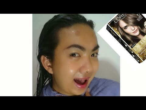 DIY Hair Color using L'Oreal Paris Excellence Fashion 7 1 Beige Light Brown