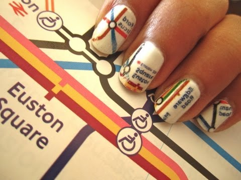 London Underground Map Nails