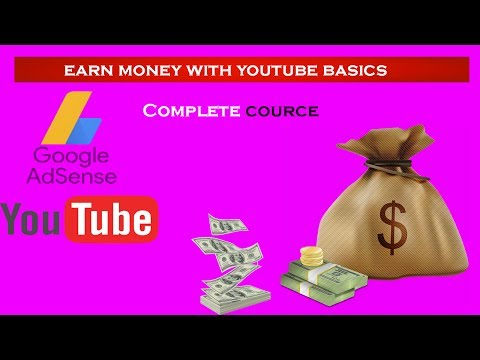 How to Earn Money on YouTube In Hindi Tutorial basics !!