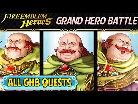 Fire Emblem Heroes - Grand Hero Battle: Oliver INFERNAL+ALL Quests No Skill Inheritance