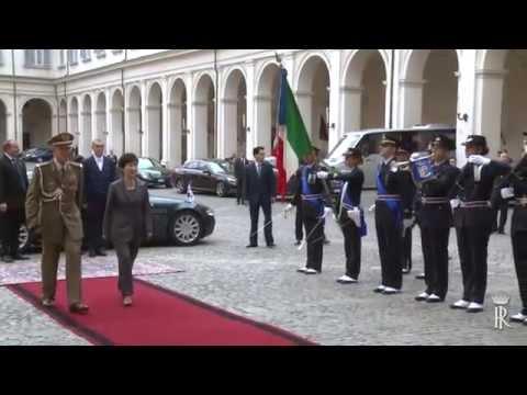 Roma - Napolitano incontra Park Geun-hye (17.10.14)