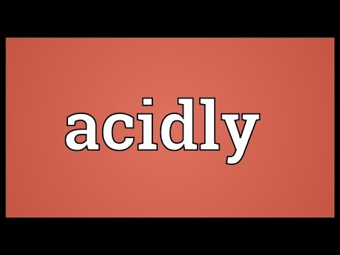 Header of acidly