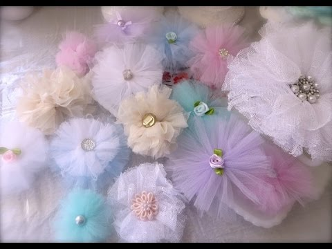 Cheap And Chic Super Quick And Pretty Tulle Flowers Youtube