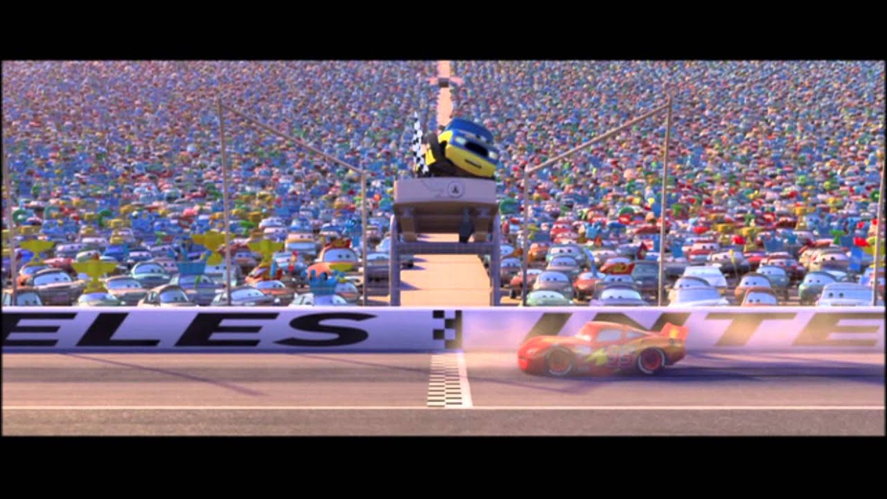Cars last race youtube for Cars movie wall mural