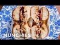 A French Toast Bagel Breakfast Sandwich