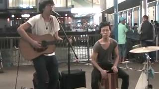 Busking cover Sam 許冠傑  - 心裡日記 @Star Ferry Pier TST HK (21052015 )