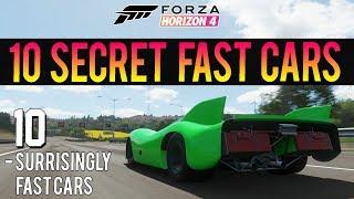 Forza Horizon 4 - 10 Surprisingly Fast Cars! - INSANE Accelerations