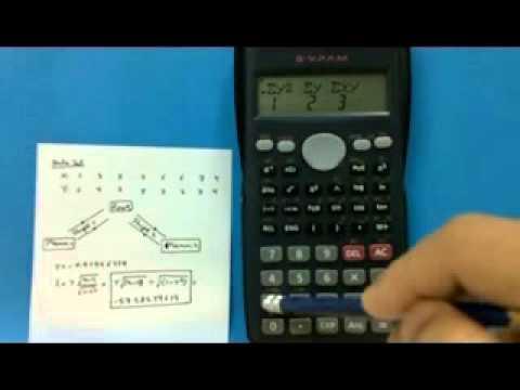 Calculator Casio fx-350MS: Computing r and t