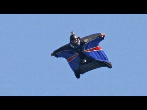 Wingsuit Landing Without Deploying A Parachute - Gary Connery video