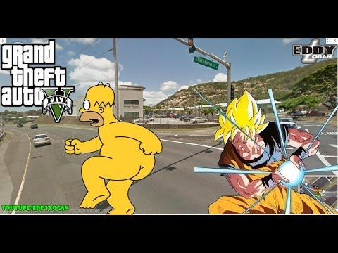 GTA 5: Goku vs Homero simpson