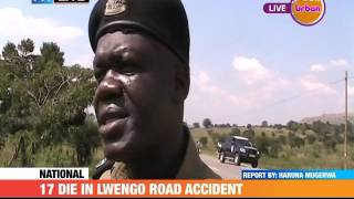 #PMLIVE  [VIDEO]: 17 DIE IN LWENGO ROAD ACCIDENT