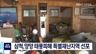 삼척,양양 특별재난지역 선포