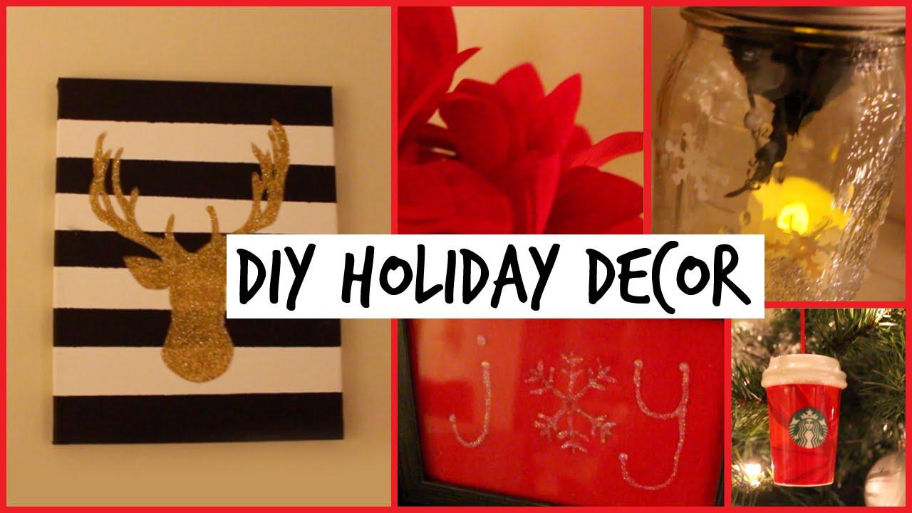 Diy Holiday Room Decorations Easy Cute Decor Ideas