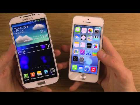 Samsung Galaxy S4 vs. iPhone 5 iOS 7 Beta 2 - Review
