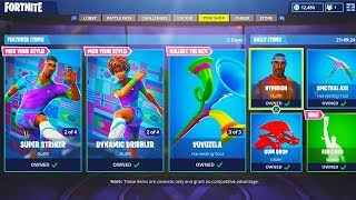 "NEW ""World Cup"" SKINS GAMEPLAY in Fortnite! - NEW ""Blockbuster"" SKIN GAMEPLAY! (New Fortnite Update)"