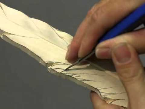 How to carve a pheasant feather.