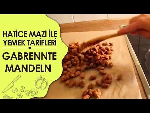 Gebrannte Mandeln - Şekerli Kavrulmuş Badem Tarifi