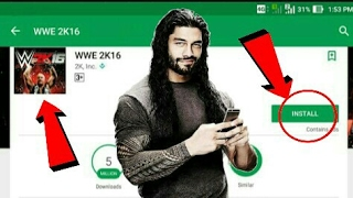 Wwe2k16 launching on play store for Android. It's contradictions gameplay type. Controls& lots more 7.43 MB