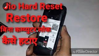 Jio 4G Phone Hard Reset F81E