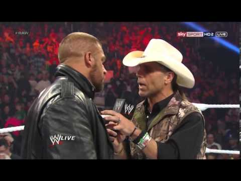 HHH HBK HEYMAN & LESNAR SEGMENT ON WWE RAW 1ST APRIL 2013