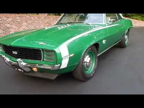 1969 Camaro RS Rally Green for sale Old Town Automobile in Maryland