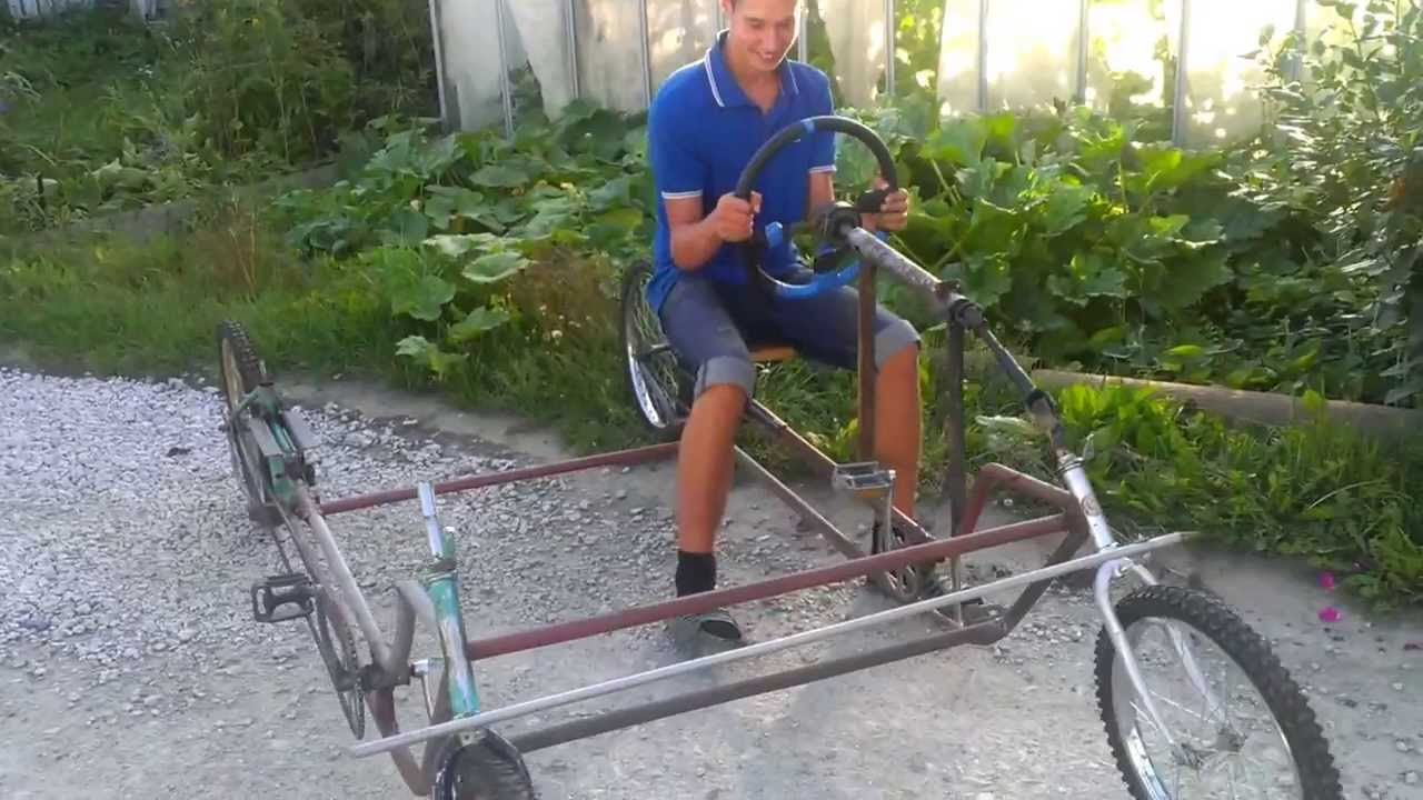 Как сделать четырёх колёсный велик 533