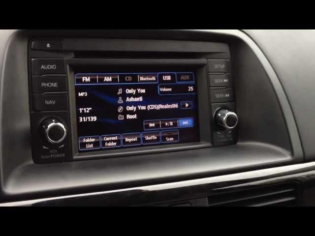 Mazda CX-5 BOSE audio 9 speaker surround system - YouTube