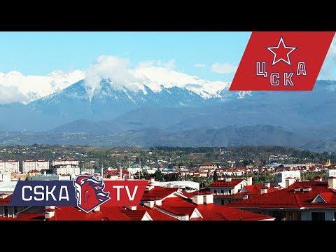 Игроки ЦСКА на сборах в Сочи