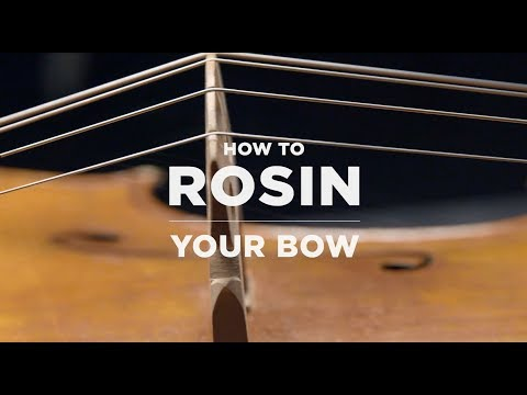 D'Addario Core: How to Rosin Your Bow