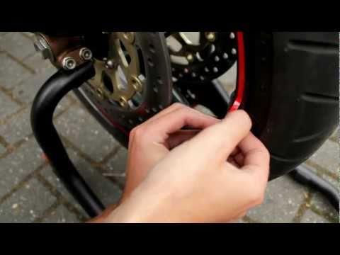 Rim Sticker Motorcycle ▶ Rim Sticker Applicator