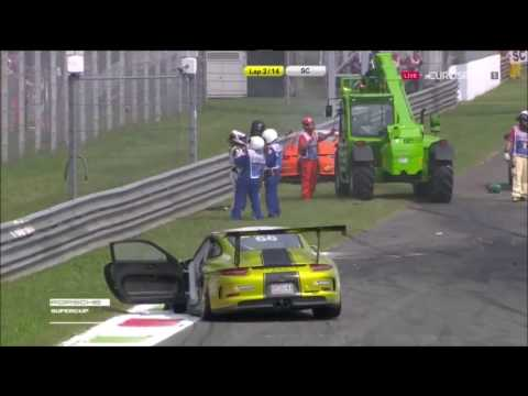 Porsche Super Cup Monza 2016 Huge Multi Car Crash